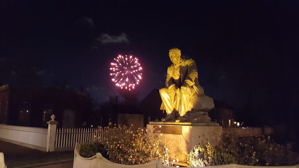 Holiday fireworks at Greenfield Village - winter activities in Michigan