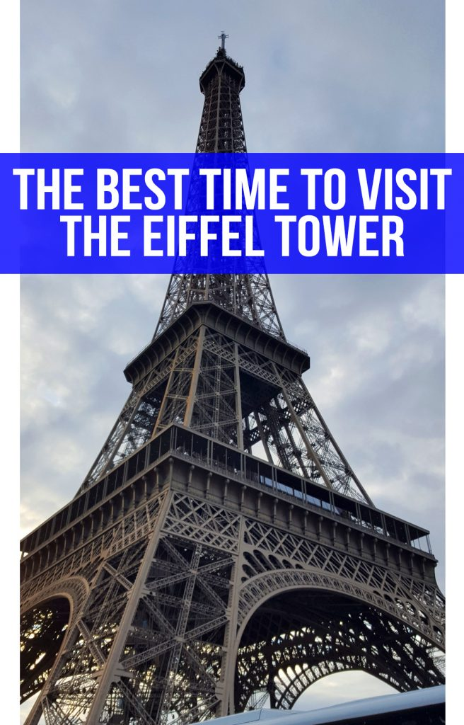 The best time to visit the Eiffel Tower in Paris, France.