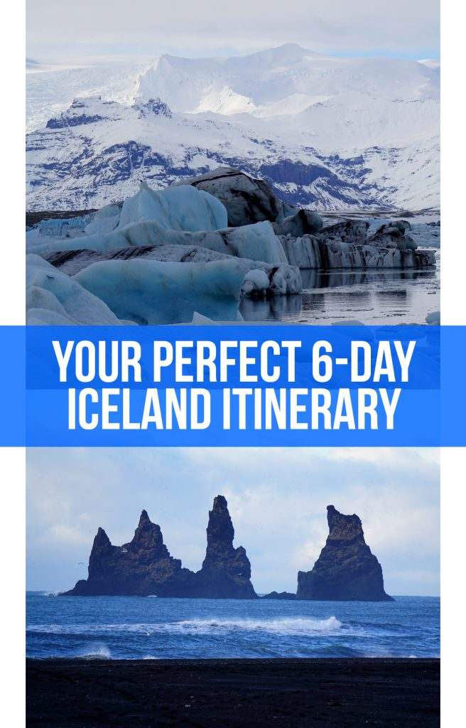 This perfect 6-day southern Iceland itinerary will take you through the country's top highlights. Starting in Reykjavik, it includes the fjords, Golden Circle, Seljalandsfoss, Skogafoss, Reynisfjara, Jokulsarlon, and the Blue Lagoon.