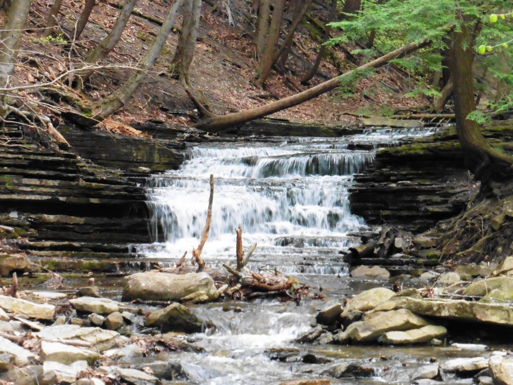 Waterfall at the Paint Mine Trailhead in Thacher State Park