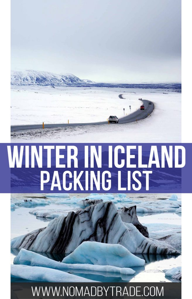 Scenes from winter in Iceland with text overlay