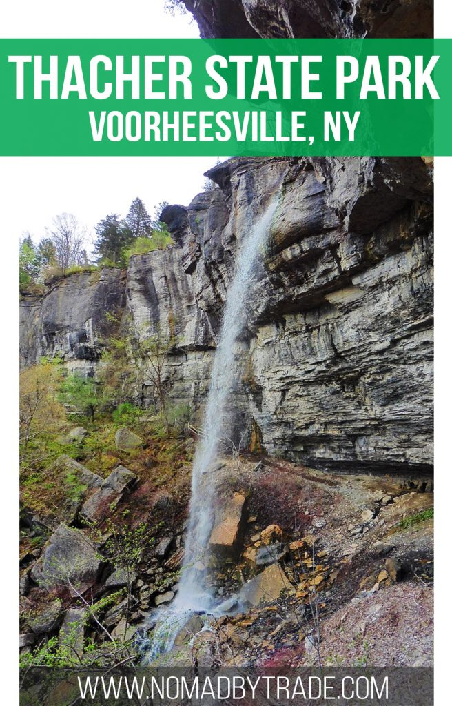 The Indian Ladder Trail in New York's Thacher State Park takes you behind two beautiful waterfalls. Don't miss this fun escape when visiting the Capital Region.