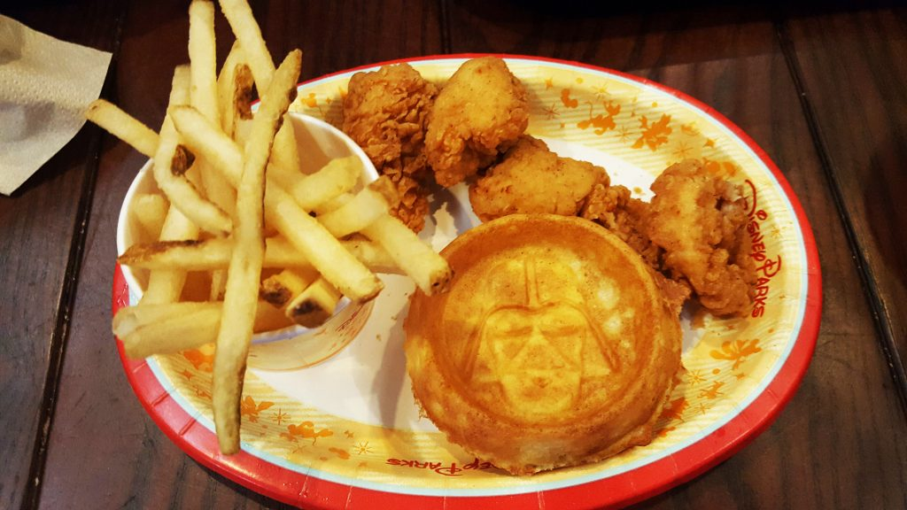 Star Wars chicken and waffles at Disney World's Hollywood Studios - Disney World for grown-ups
