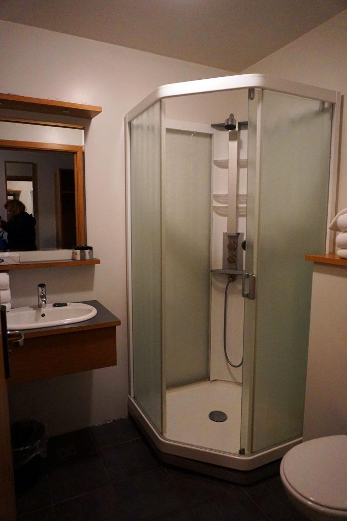 Bathroom in the Litli Geysir Hotel in Iceland