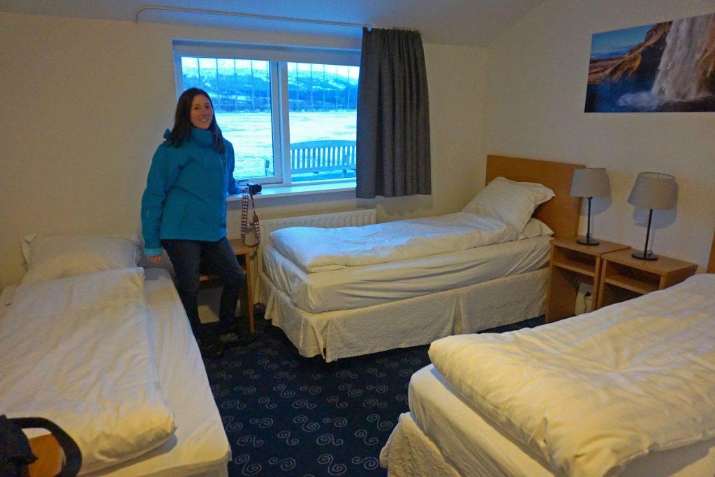 Room in the Litli Geysir Hotel in Iceland