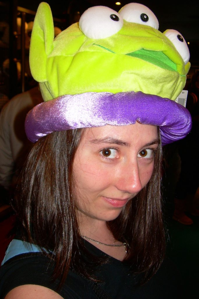 Toy Story Alien hat at Disney World - Disney World without kids