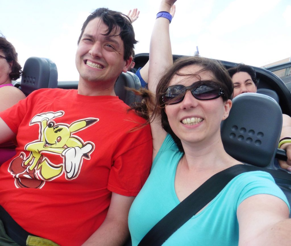 Riding Test Track with the breeze in our hair