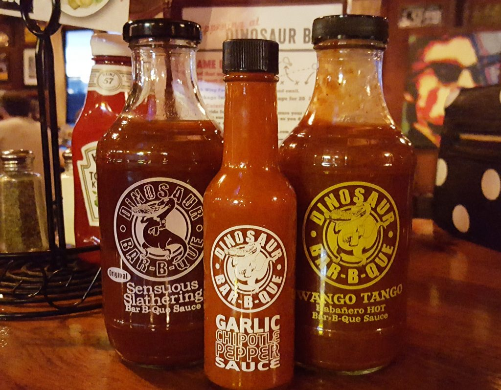 BBQ sauce at Dinosaur BBQ in Troy, NY - Albany Dining Guide