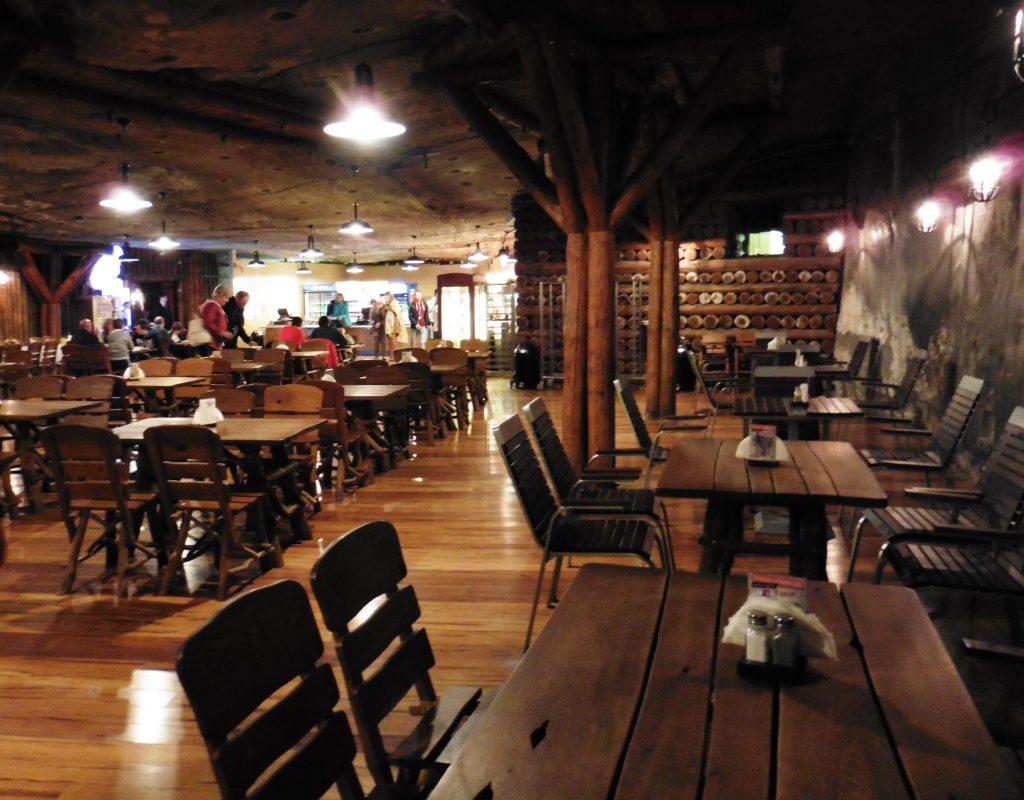 Miner's Tavern underground restaurant in the Wieliczka Salt Mine