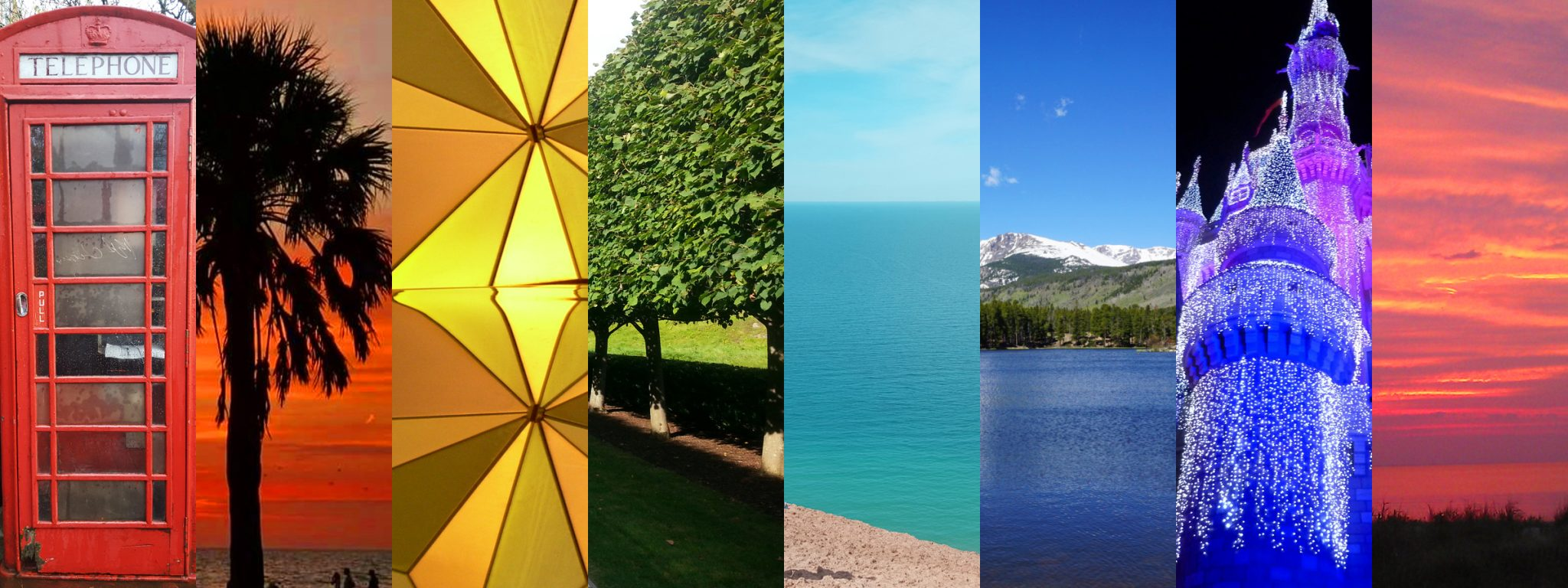 Colorful Instagram travel photos