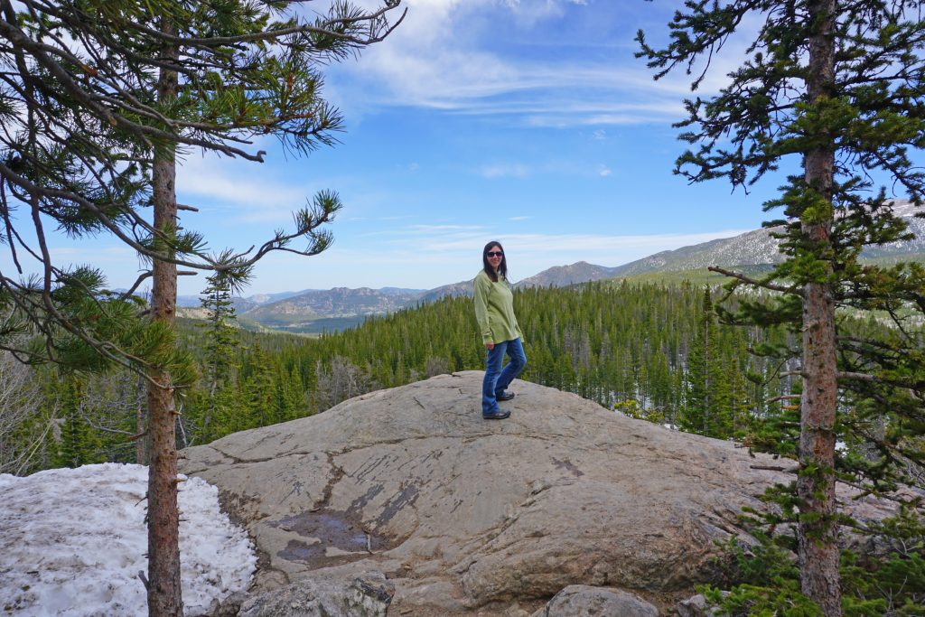 Viewpoint along the Dream Lake Trail in Rocky Mountain National Park