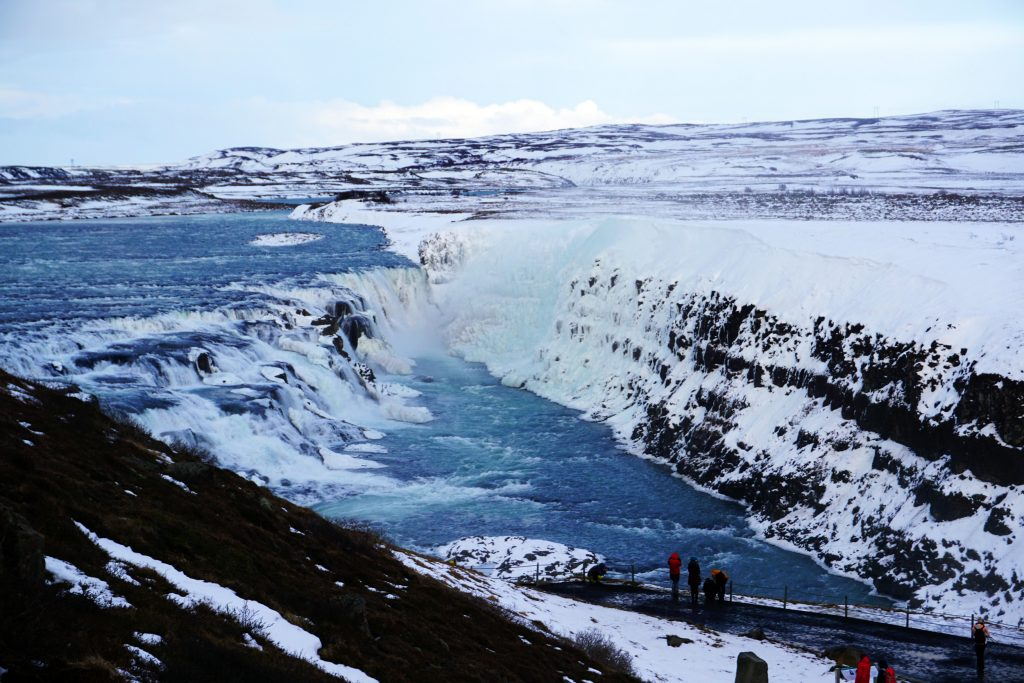 Gullfoss waterfall along Iceland's Golden Circle