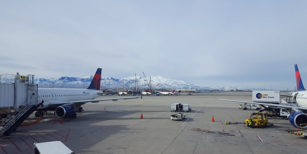 Mountains at the Salt Lake City airport