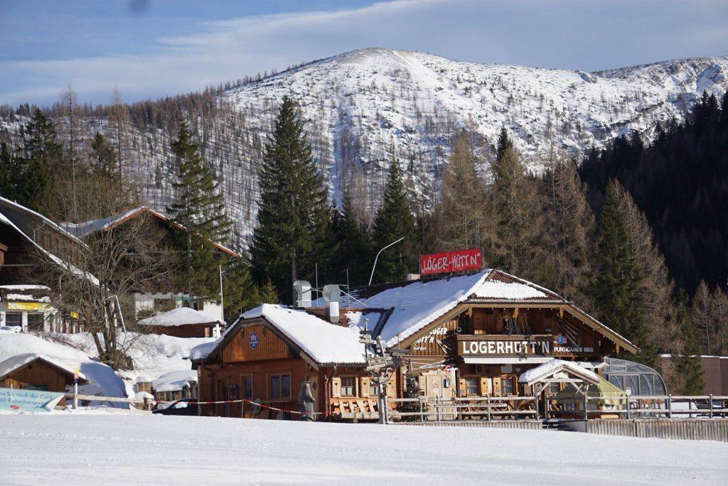 Warming house at Hinterstoder, Austria - skiing in Austria