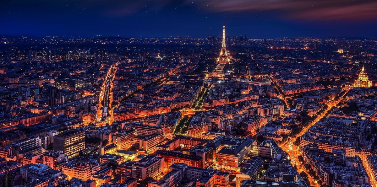 3 Days in Paris - view of the city at night