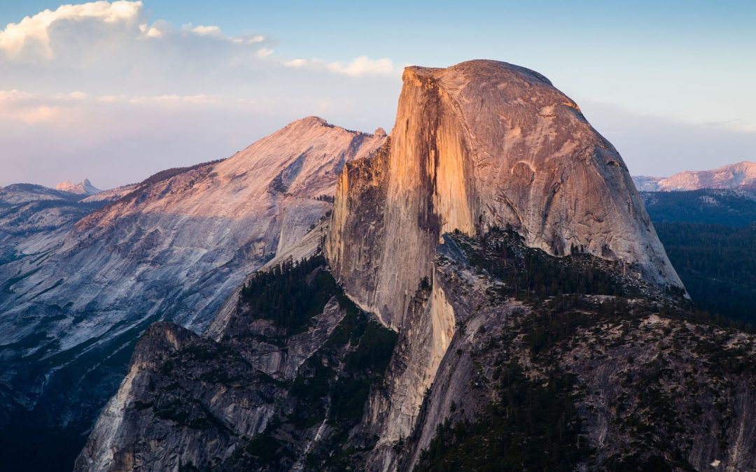 Photo of Half Dome, one of the best hikes in Yosemite National Park