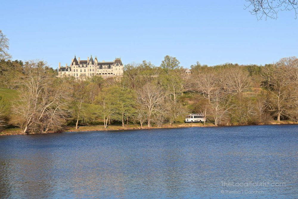 Biltmore estate over a body of water