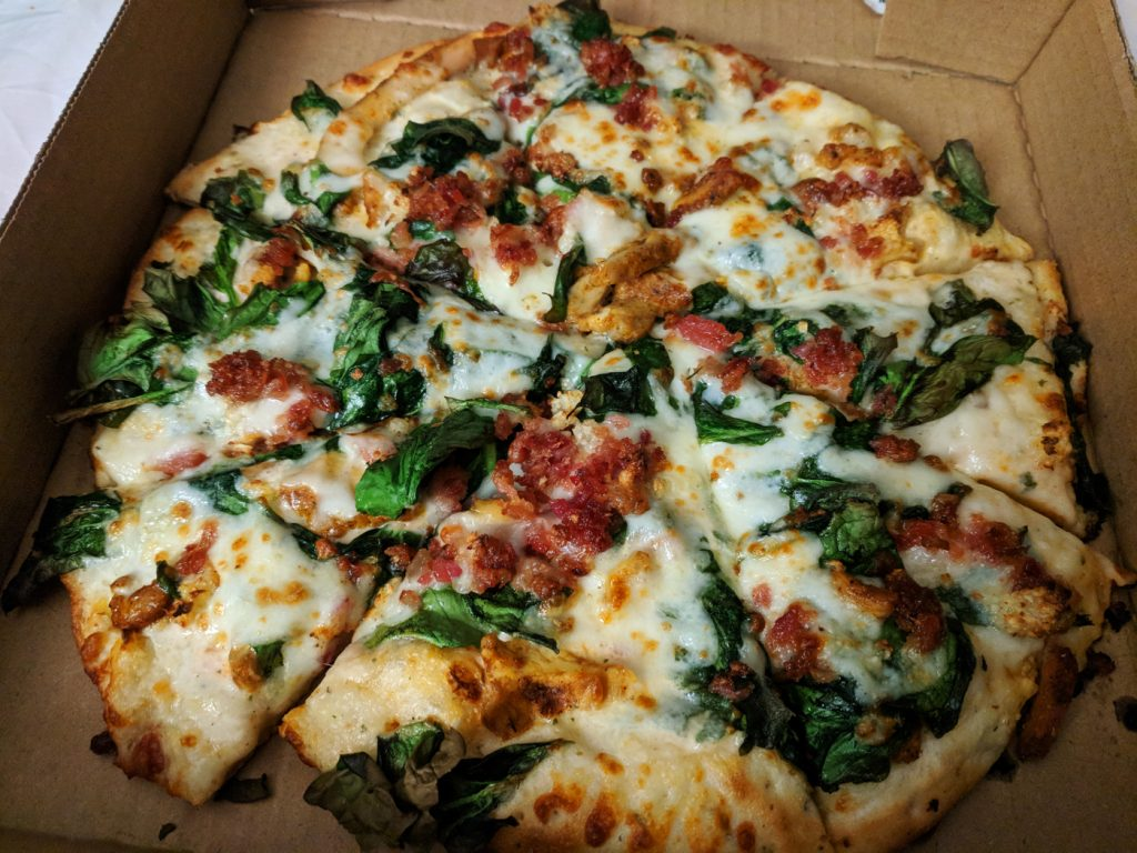 Walk the Dog pizza from Blue Dog Pizza - favorite pizza in South Lake Tahoe