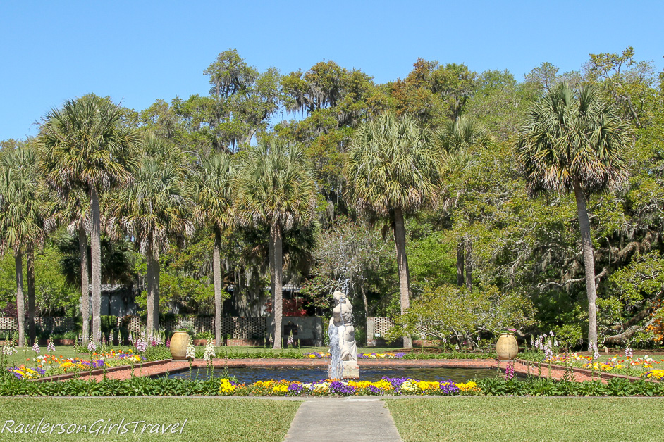 Fountain and trees in Brookgreen Gardens