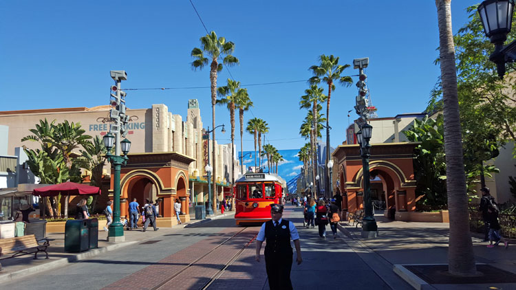 Street in Hollywood Land in California Adventure