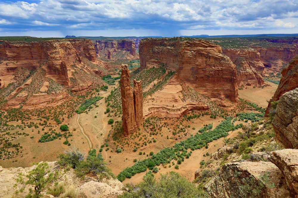 Rocky formations in Canyon de Chelly National Monument, a less crowded alternative to the Grand Canyon
