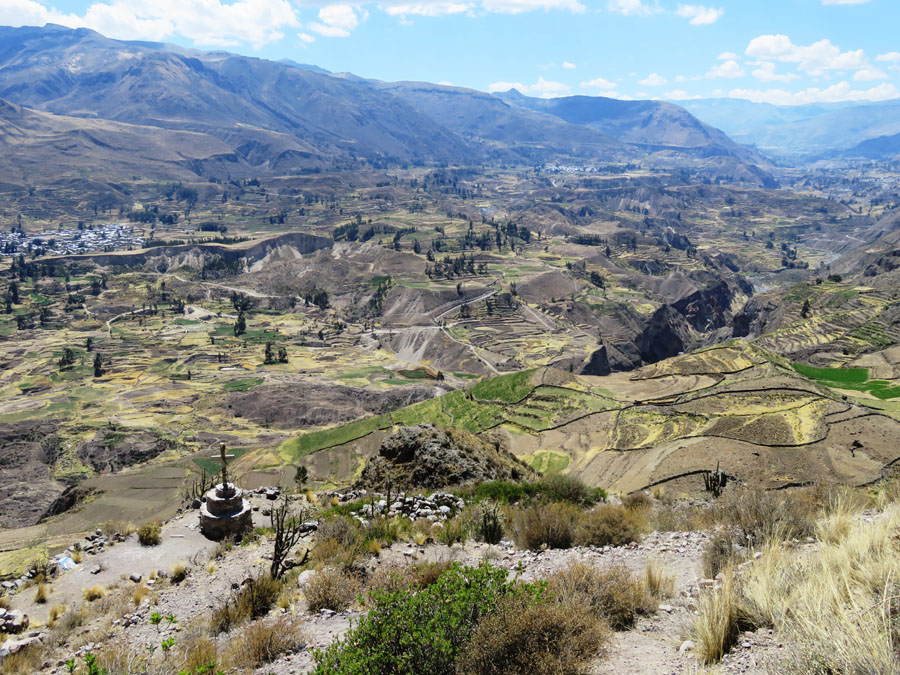 Mountainous scenery along the Colca Canyon Trek, one of the best hikes in Peru