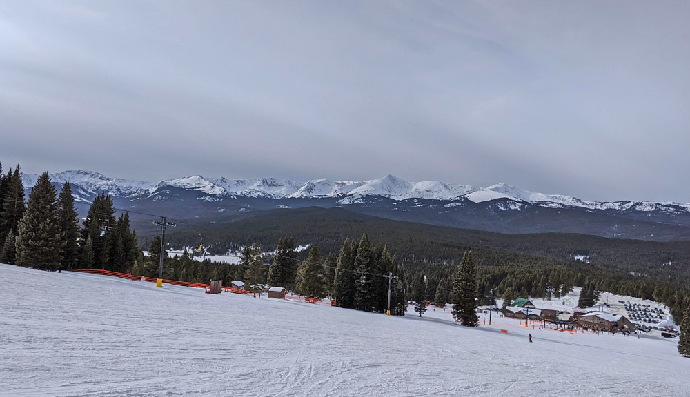 Mountain scenery from the top of Ski Cooper