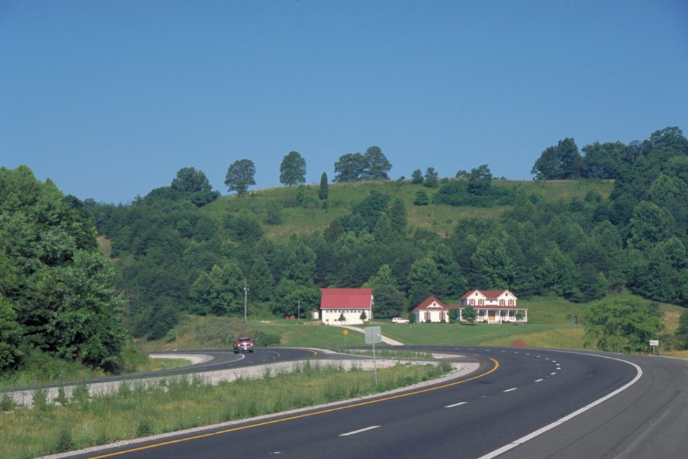 Buildings along the Country Music Highway in eastern Kentucky