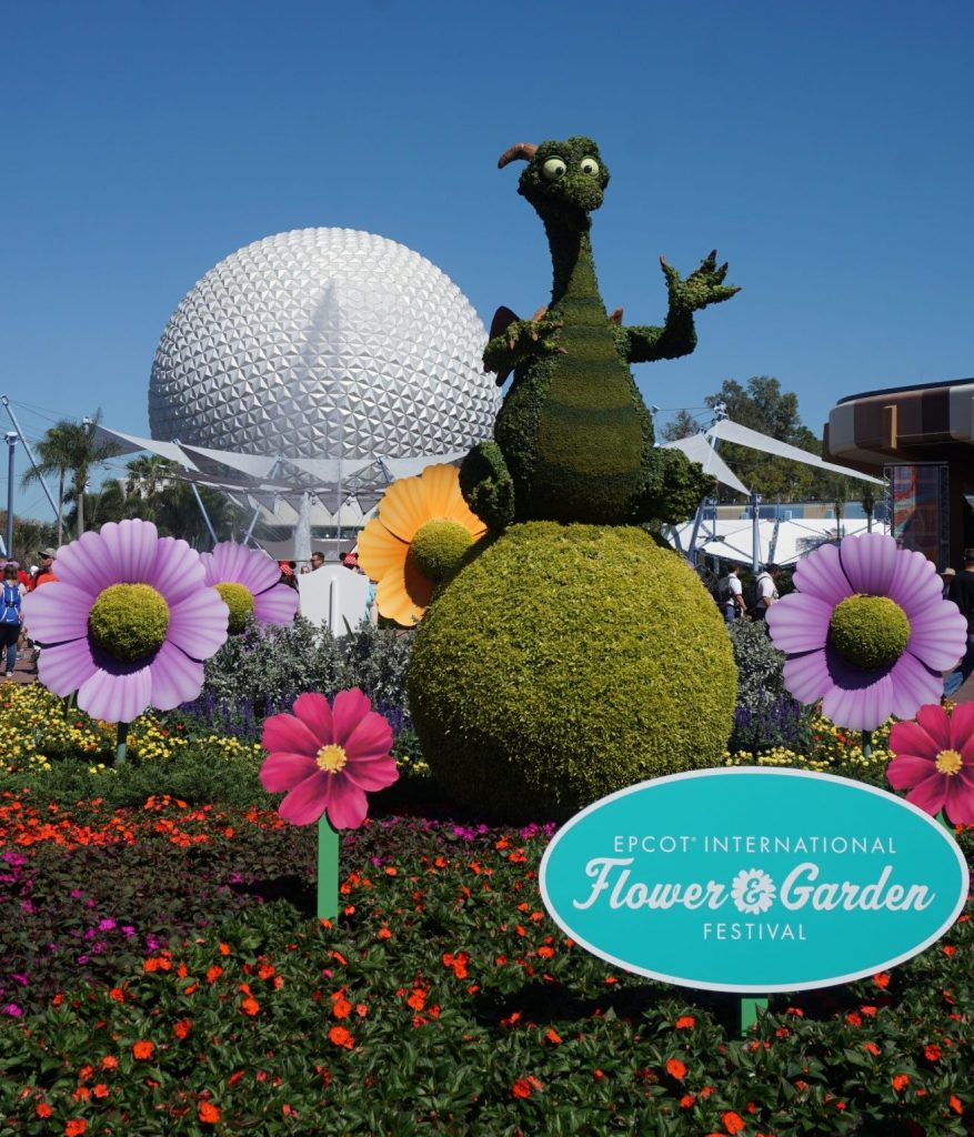Figment topiary at the Epcot Flower and Garden Festival 2018