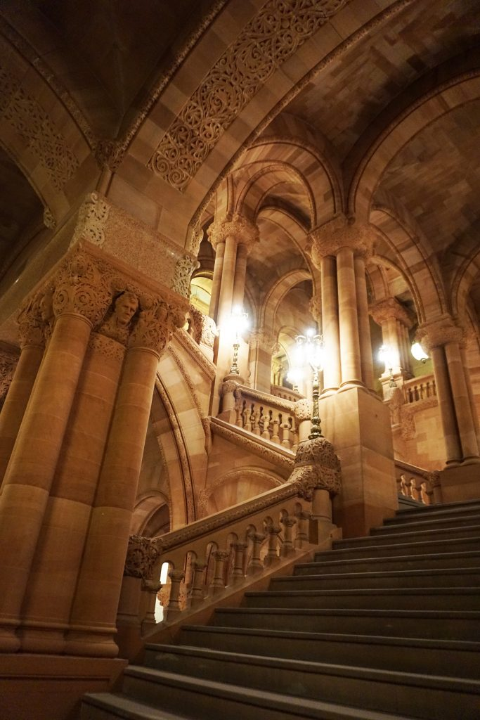 The Great Western Staircase - Touring the New York State Capitol