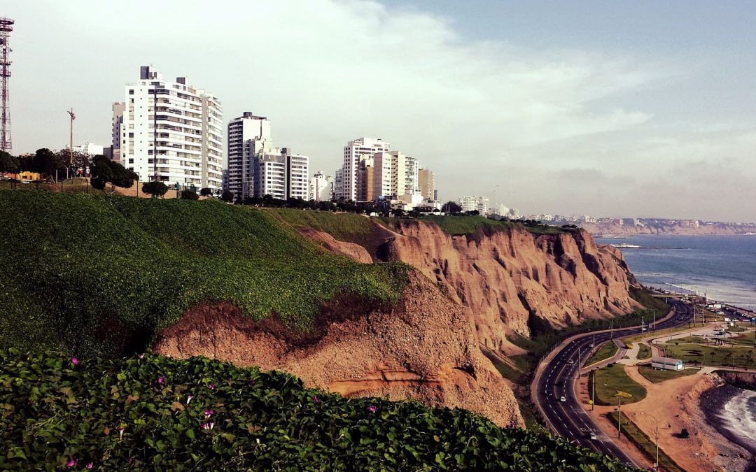 Cliffs in Miraflores in Lima, Peru