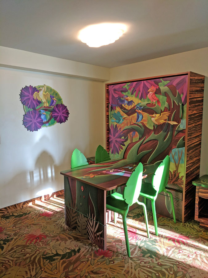 Disney's Art of Animation family suite with fold-down table bed