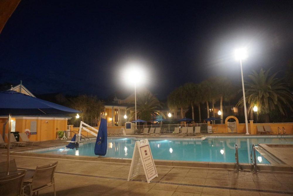 Quiet pool in the Jamaica section at Disney's Caribbean Beach Resort