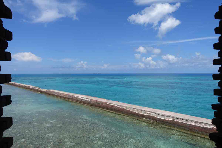 Turquoise waters in Dry Tortugas National Park