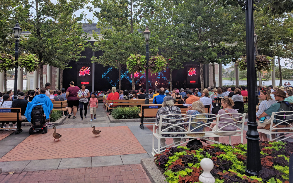 Concert in the America Gardens Theater, part of the Eat to the Beat Concert series