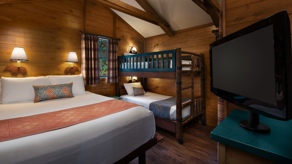 Inside one of the Fort Wilderness cabins