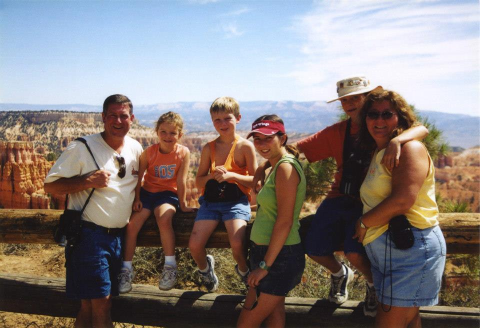 White Couple with 4 kids at Bryce Canyon National Park