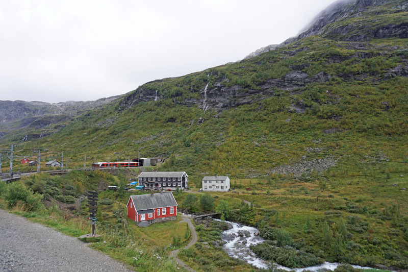 View from Myrdal station waiting to take the Flam Railway from Myrdal to Flam