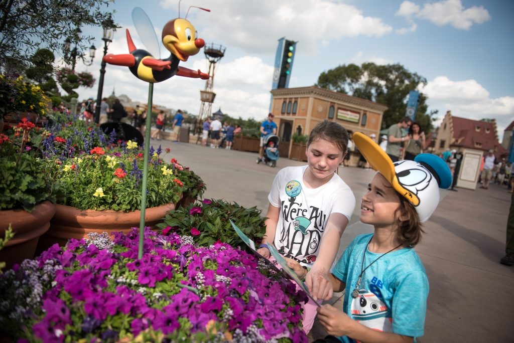Epcot Flower and Garden Festival scavenger hunt with Spike