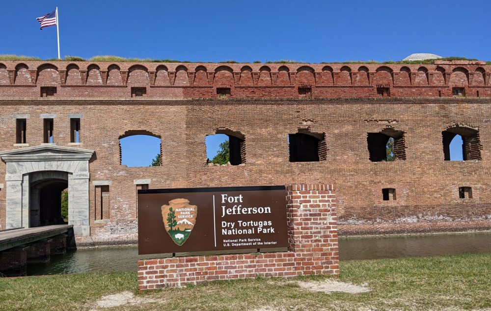 Entrance to Fort Jefferson in Dry Tortugas National Park