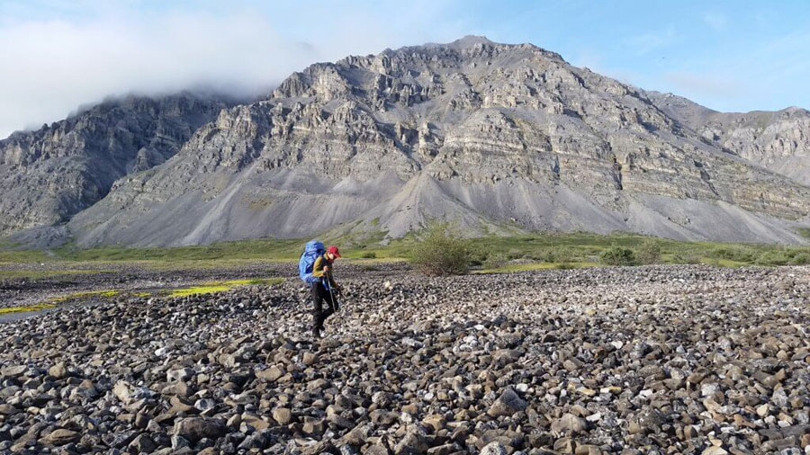 Hiker in Gates of the Arctic National Park, one of the least visited National Parks