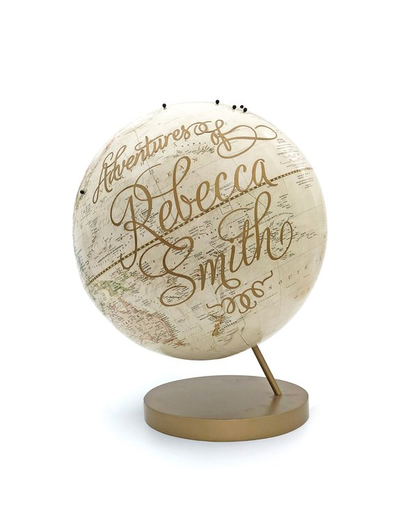 Handpainted custom globe