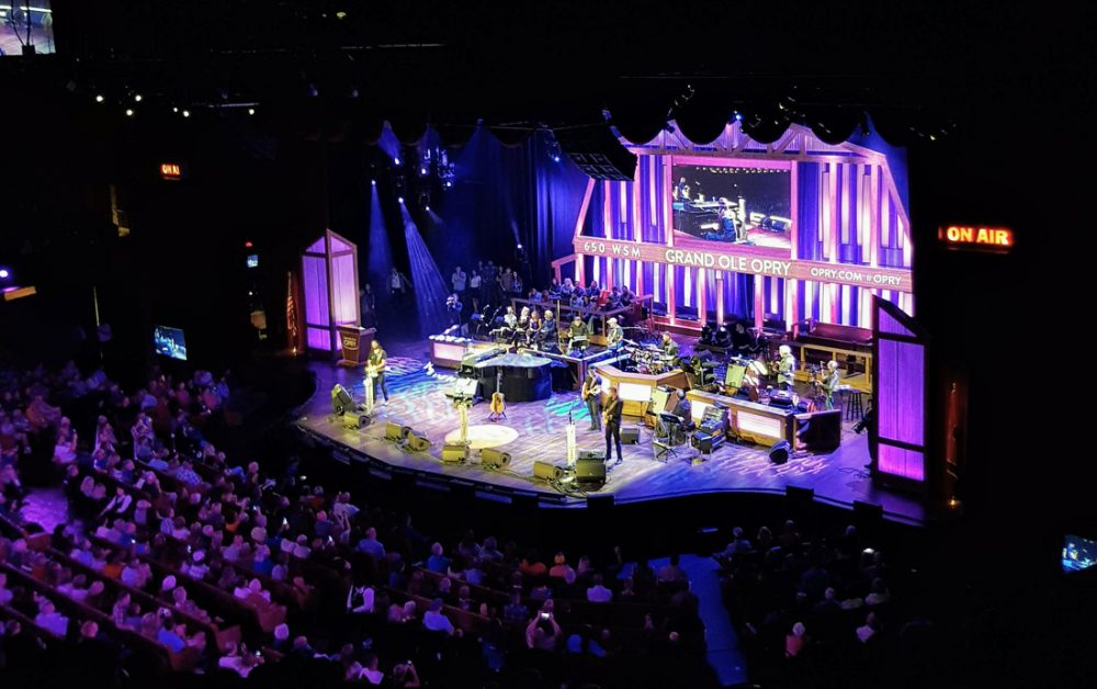 Photo of the Grand Ole Opry stage