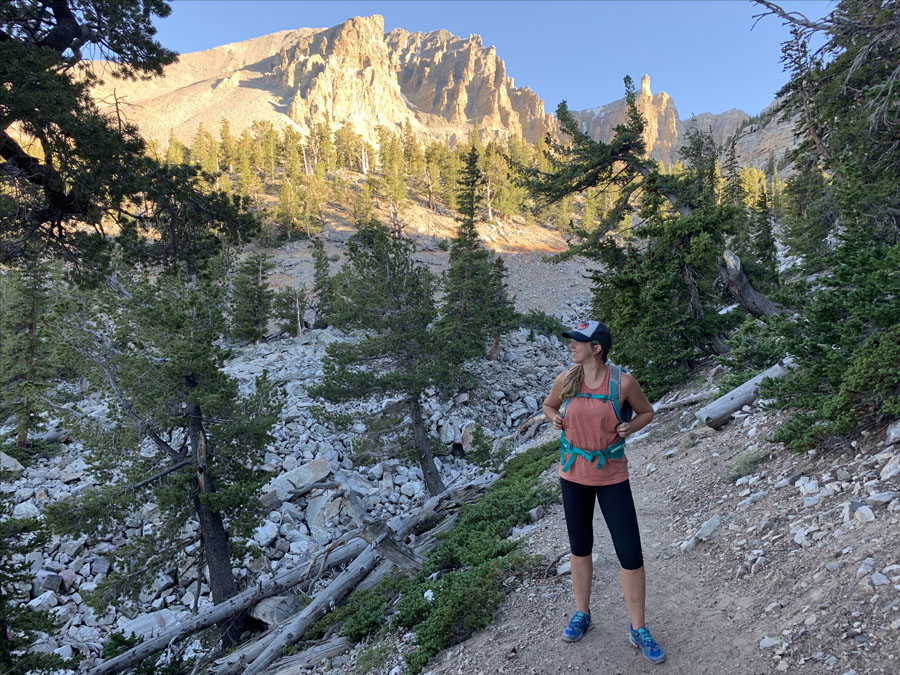 Hiker in Great Basin National Park