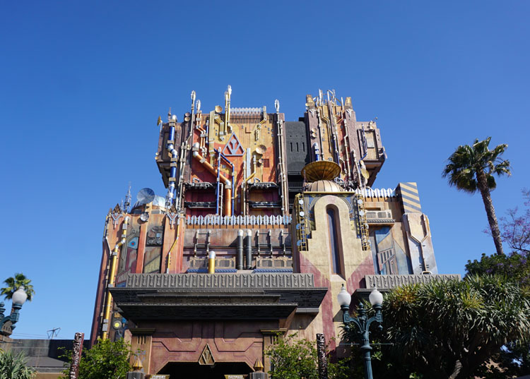 Exterior of Guardians of the Galaxy - Mission: Breakout at California Adventure