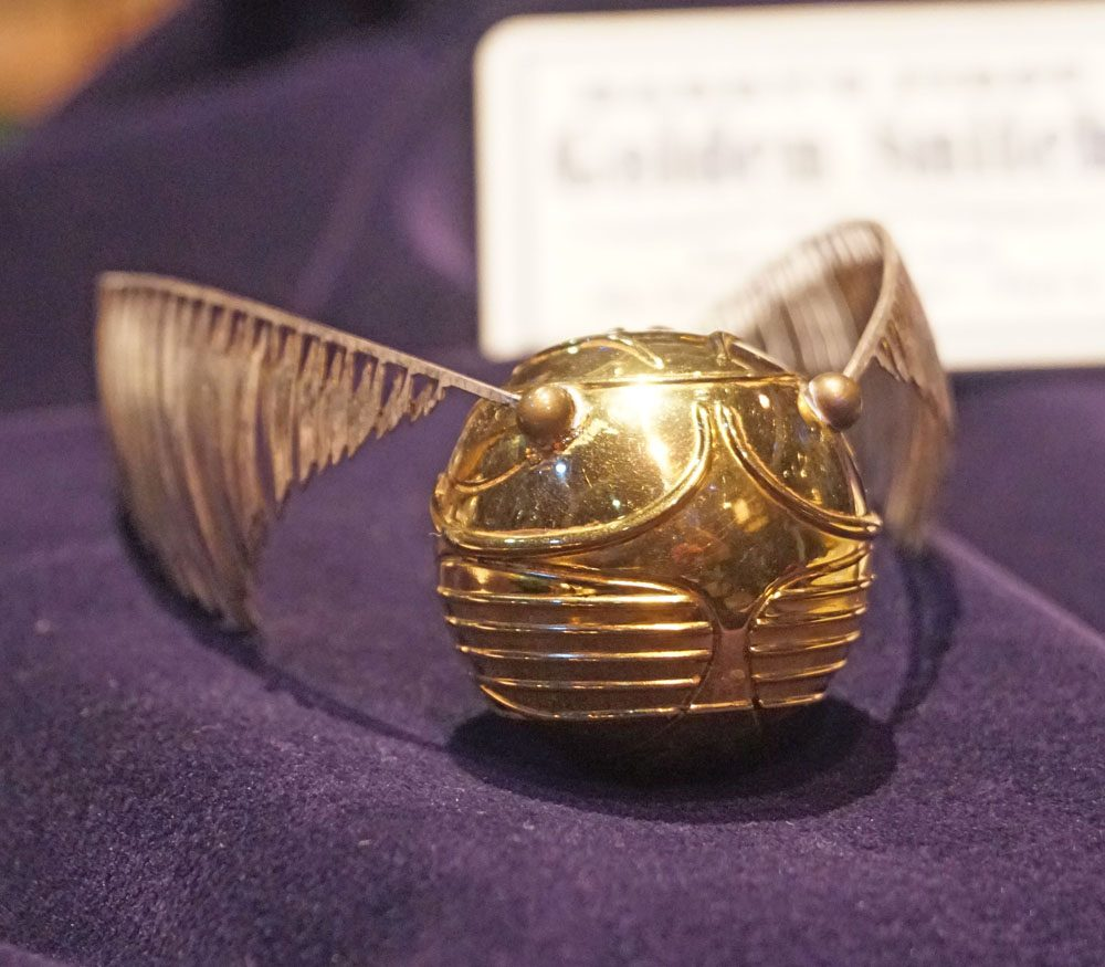 Golden snitch prop from the Harry Potter film series