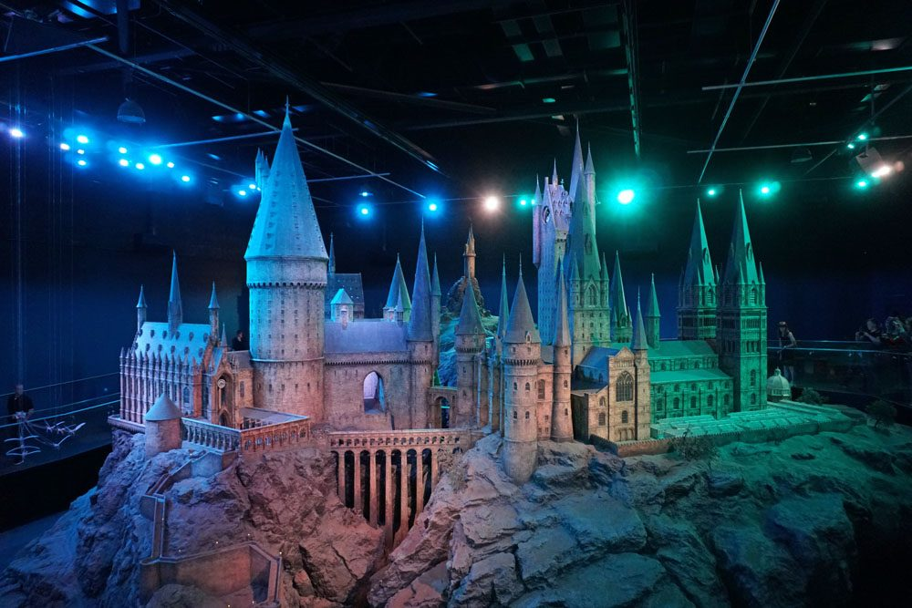 Scale model of Hogwarts used for filming