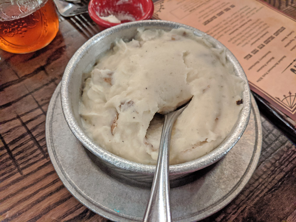 Mashed potatoes at the Hoop Dee Doo