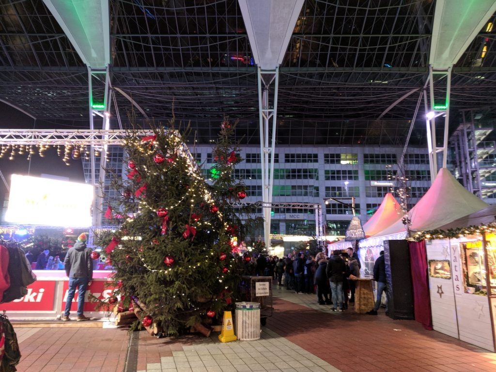 Munich airport Christmas market - Our terrible Air France customer service