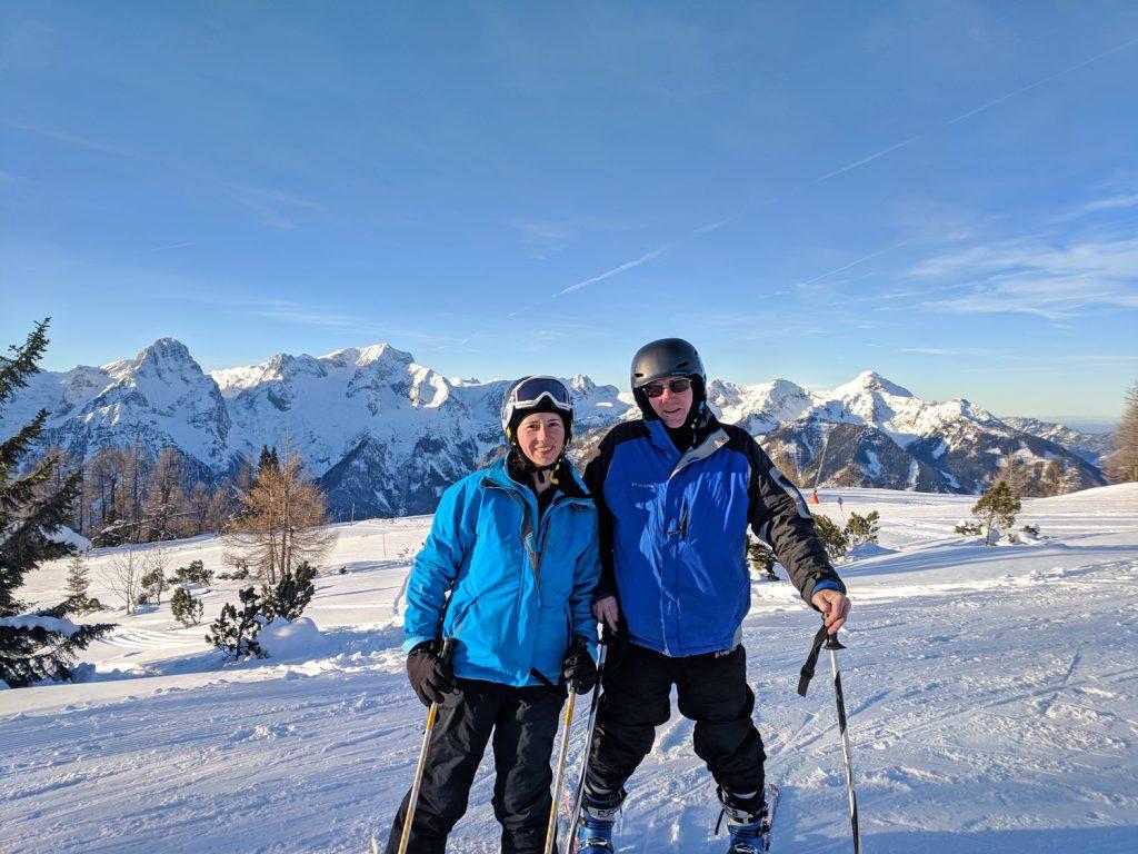 Skiing the Alps at Hinterstoder, Austria